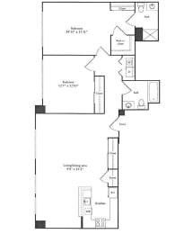 Floor Plan 1,238 sq. ft.