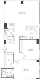 Floor Plan 1,495 sq. ft.