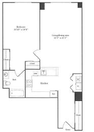 Floor Plan 706 sq. ft.
