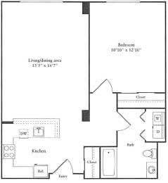 Floor Plan 716 sq. ft. (A)
