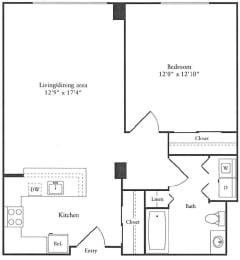 Floor Plan 716 sq. ft. (B)