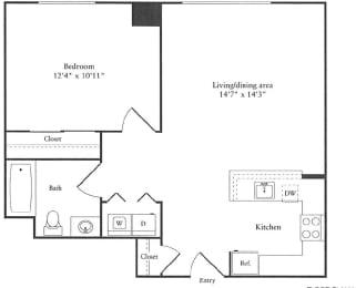 Floor Plan 720 sq. ft.