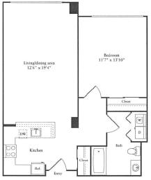 Floor Plan 752 sq. ft.