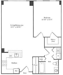 Floor Plan 828 sq. ft.