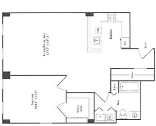 Floor Plan 870 sq. ft.