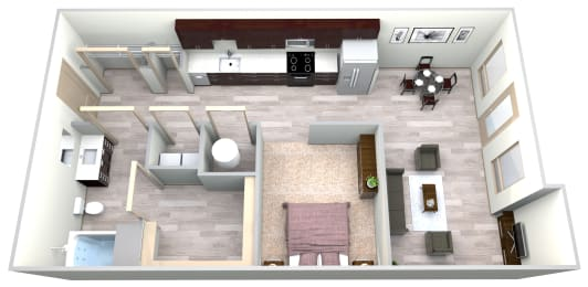 Sapphire Floor Plan at Azure Houston Apartments, Texas, 77007, opens a dialog