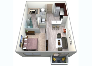 Slate Floor Plan at Azure Houston Apartments, Houston, TX, opens a dialog