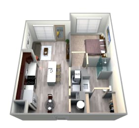 Azul Floor Plan at Azure Houston Apartments, Houston, 77007, opens a dialog