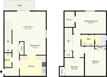 Floor Plan RICHMOND - THREE BEDROOM TOWNHOUSE