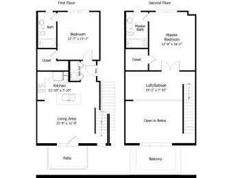 Floor Plan 3B1