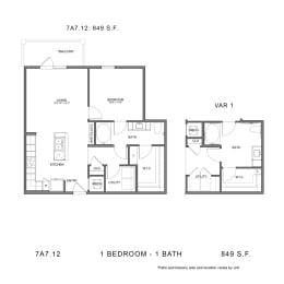 Floor Plan 7A7.12, opens a dialog