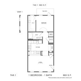 Floor Plan 7A8.1, opens a dialog
