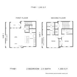 Floor Plan 7THB1, opens a dialog