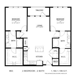 Floor Plan 8B3