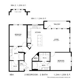 Floor Plan 8B4