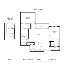 Floor Plan 8B6