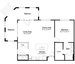 Floor Plan 4A4