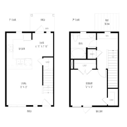 THA5: 1 Bedroom, 1 Bathroom Townhome, opens a dialog