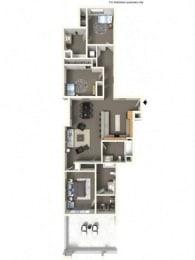 Floorplan at The Villas in Bellevue Apartments, WA, 98007