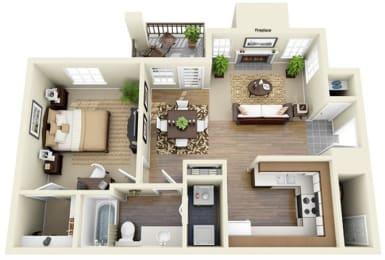 Floor Plan One Bedroom B