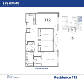 Floor Plan 112, Apartments in Glendale, California, Legendary Glendale, opens a dialog