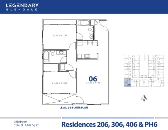 Legendary Glendale Floor Plan 06, Luxury Apartments in Glendale, 91203, opens a dialog
