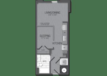 M.1A1 Floor Plan at TENmflats, Columbia, 21044