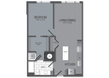 M.1B2 Floor Plan at TENmflats, Columbia, 21044