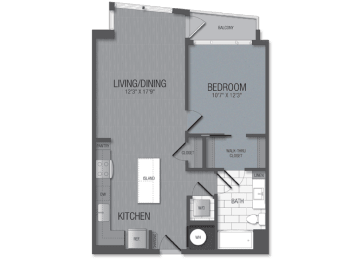 M.1B5C Floor Plan at TENmflats, Columbia, Maryland
