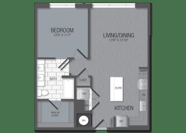 M.1B8A Floor Plan at TENmflats, Maryland