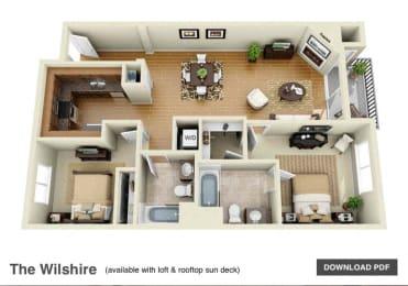 2 3 Bedroom Apartments In Canoga Park The Verandas