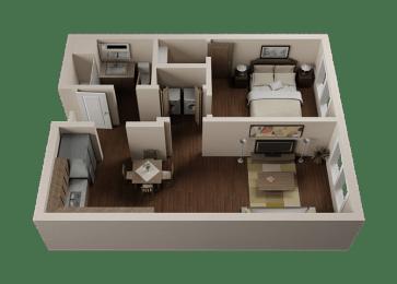 One Bedroom, One Bath Apartments in Downtown Sacramento | Legado de Ravel