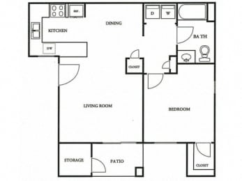 Floorplan at The Colony Apartments, Casa Grande, 85122