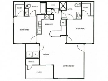Floorplan at The Colony Apartments, Arizona, 85122