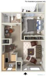 Floorplan at Fountain Plaza Apartments, 2345 N. Craycroft