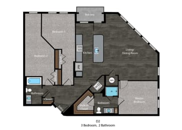 Melville-3 Bed Floor Plan at The Edition, Maryland, 20782, opens a dialog