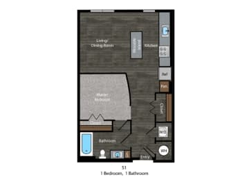 Floor plan image for The Edition in Hyattsville, MD, opens a dialog