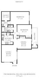Floor Plan Bartlett