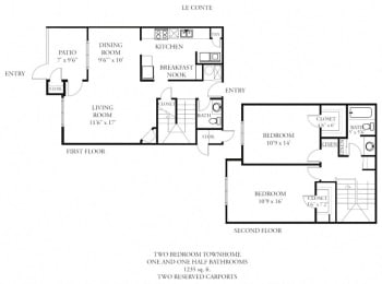 Floor Plan Le Conte