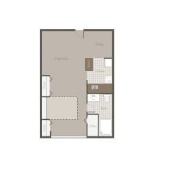 Sonoran Studio Floor plan at Desert Creek, Albuquerque, 87107