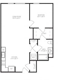 Floor Plans A4 at AVE Walnut Creek, Walnut Creek