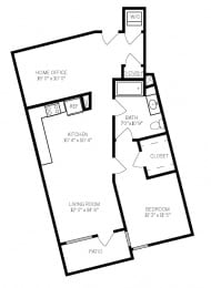 Floor Plans A6 at AVE Walnut Creek, Walnut Creek, CA, 94596