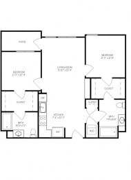 Floor Plans B1B at AVE Walnut Creek, Walnut Creek, California