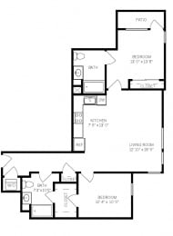 Floor Plans B2L at AVE Walnut Creek, California, 94596