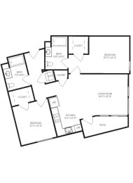 Floor Plans B3 at AVE Walnut Creek, Walnut Creek, CA, 94596