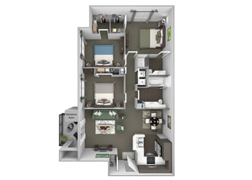 Preserve at Blue Ravine - C1 - Blue Oak - 3 bedroom - 2 bath - 3D