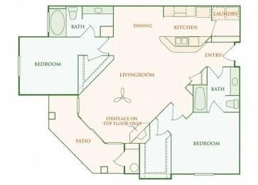 Willow Springs - Cambridge - 2 bedroom - 2 bath