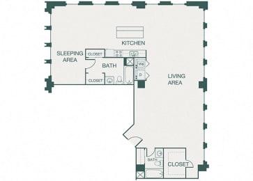 The Kirby - A19 - Penthouse 7 - 1 bedroom - 1 bathroom