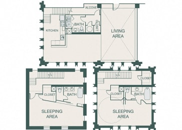 The Kirby - B5 - Penthouse 5 - 2 bedrooms - 1.5 baths