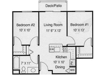 Henderson, NV  89052 l Vintage at Seven Hills 2 Bedrooms  Floor Plans Senior Apartments